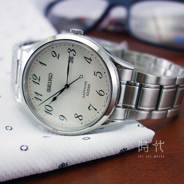 【台南 時代鐘錶 SEIKO】精工 SPIRIT 悠閒品味時尚腕錶 SGEH73P1@7N42-0FW0W 銀 40mm