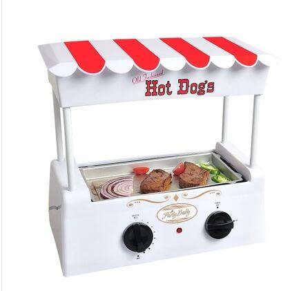 烤腸機家用迷妳小型全自動商用熱狗烤香腸鐵板燒烤肉多功能機 igo 220v 夏洛特居家