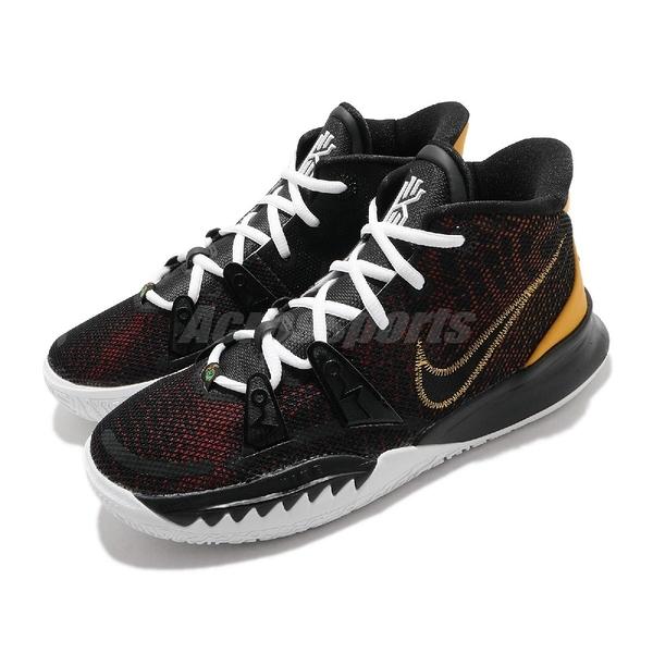 Nike 籃球鞋 Kyrie 7 GS EP Raygun 黑 黃 女鞋 Irving KI7【ACS】 CT4080-001