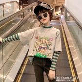 女童打底衫加絨兒童長袖T恤2020新款秋冬裝洋氣高領女孩純棉上衣 艾瑞斯