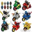 2021年新品益智力幻影忍者人仔小人偶男孩積木拼裝玩具摩托車名購居家