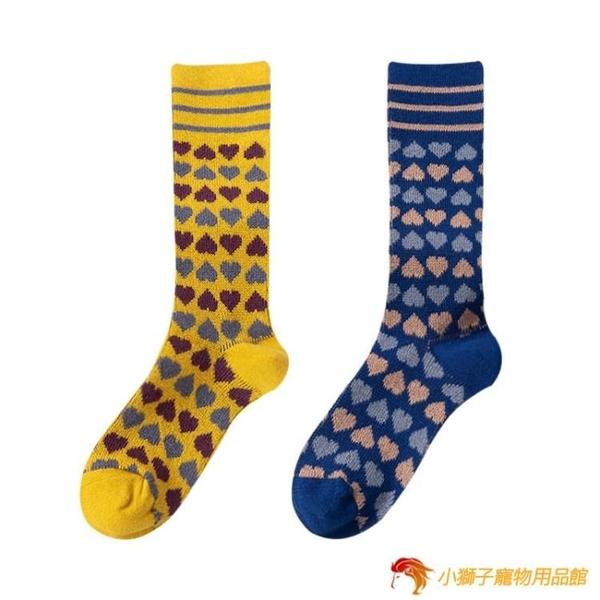 長襪女秋冬小腿襪純棉百搭高筒日系可愛堆堆襪【小獅子】