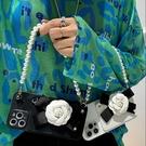 手提山茶花卡包oppo保護套 OPPO Find X3 PRO手機套 皮質可愛find x3pro手機殼 毆珀Find X3 Pro保護殼