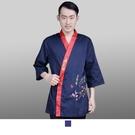 晶輝專業團體制服*CH112*日式溫泉飯店女竹子印花日本料理廚師服餐廳服務員工作服壽司