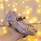 女童皮鞋高跟鋼琴表演水晶單鞋禮服走秀演出公主兒童鞋春秋【淘嘟嘟】