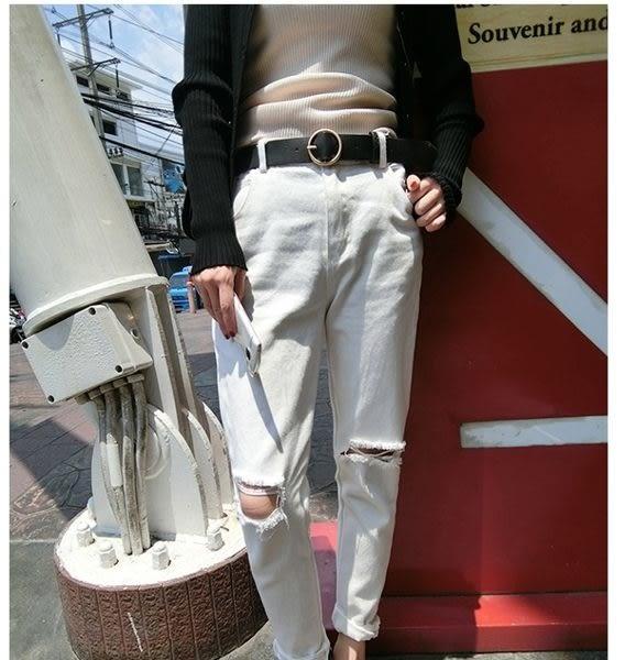 (全館免運) - 休閒腰帶小皮帶百搭裝飾簡約針扣皮帶 (XA-168)
