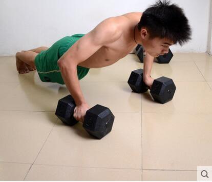 六角啞鈴5公斤男士健身器材家用20kg運動用品包膠啞鈴足重15公斤(7.5kg單個)