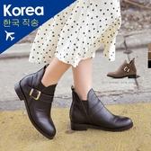 靴.俐落顯瘦素面側釦環內增高短靴-FM時尚美鞋-韓國精選.Ciao