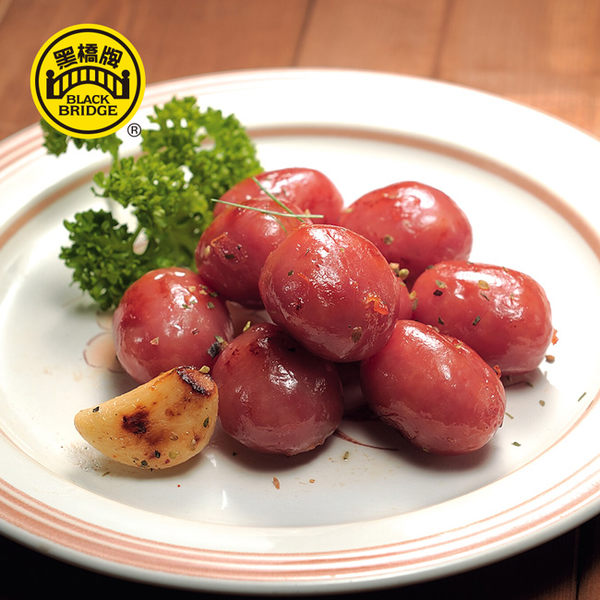 【黑橋牌】一斤蒜味珍珠香腸-真空包
