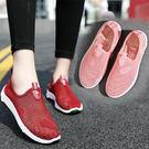 春夏老北京布鞋女鞋透氣縷空網面運動鞋女休閒網眼懶人媽媽鞋網鞋