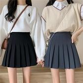 夏季2021新款學院風高腰顯瘦JK百褶短裙A字半身裙女減齡學生裙子 【Ifashion】