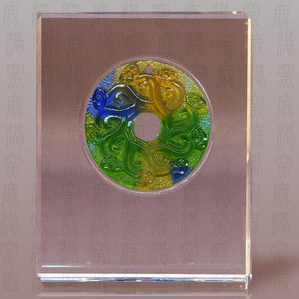 鹿港窯~居家開運S水晶鑲琉璃~九九如意◆附精美包裝◆附古法制作珍藏保證卡◆免運費送到家