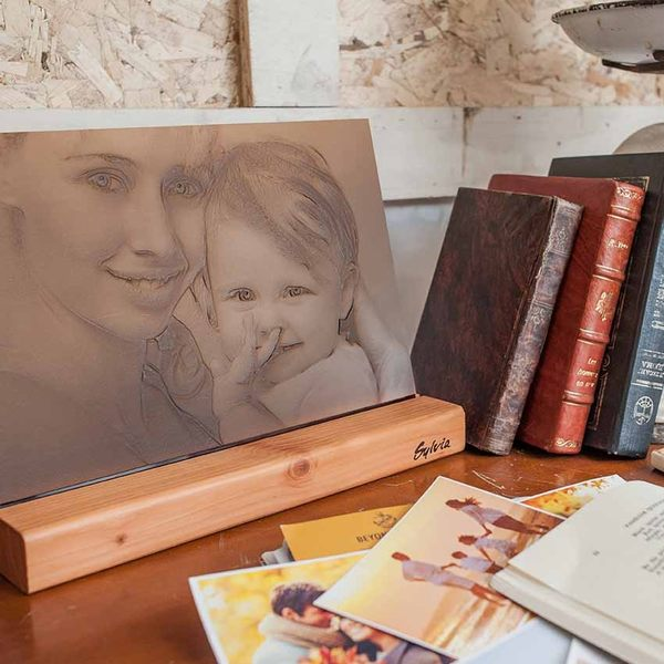 客製化 創意禮品 生日禮物 情人禮物 紀念品 客製木座照片-大【sylvia典藏精品 】