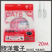 Magic 鴻象 Cat6 High-Speed 超薄網路線20米/20M (CAT6F-20)/台灣製造