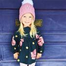 ★美國MAELI ROSE★超大毛球 翻邊針織毛線帽  童帽 親子帽 _9X15  Free size
