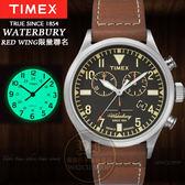 TIMEX美國第一品牌x RED WING限量聯名Waterbury系列計時腕錶TXT2P84300公司貨/禮物