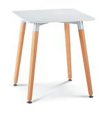 719-7 哈根時尚休閒方桌(白面/木紋腳) W80×D80×H75公分