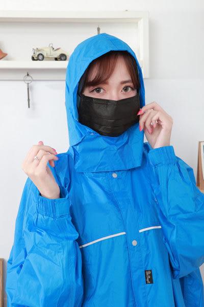 黑色口罩~抗UV檢驗達95%【雨晴牌-抗UV四層不織布口罩】◎成人-時尚黑◎防大雨超佳 柔軟舒適