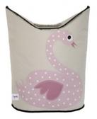 【加拿大3 Sprouts 】洗衣籃粉紅天鵝