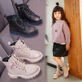 女童馬丁靴2019年新款秋冬季兒童短靴二棉加絨英倫風防水時尚皮靴
