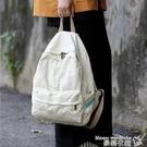 帆布後背包 ins風書包女韓版高中學生日系復古帆布後背包大學生古著感背包女 曼慕