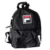 FILA 黑色 後背包 兒童背包 雙肩包 運動 休閒 輕量 迷你 小背包 BPT-9016-BK