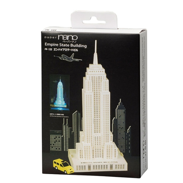 KAWADA Paper Nano 紙拼圖 Empire State Building 美國帝國大廈 PN-122