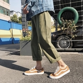 BF港風夏季新款歐美直筒寬鬆工裝哈倫褲女休閒闊腿褲