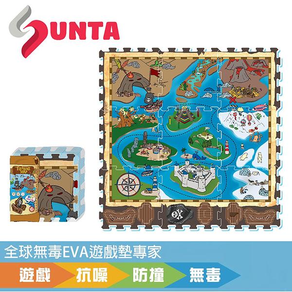 【佳兒園婦幼館】SUNTA EVA創意拼接樂扣墊-冒險海盜 32x32x1cm (9片裝)