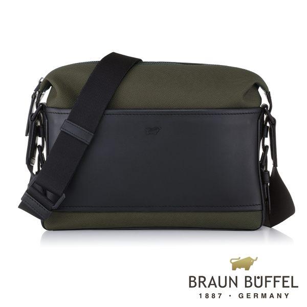 【BRAUN BUFFEL德國小金牛】尼爾系列潮流斜背包(橄欖綠) BF320-52-OL