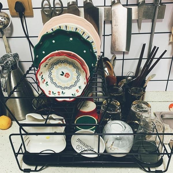 廚房置物架 雙層碗碟架瀝水架單層碗筷餐具收納盒放碗碟盤子置物架臺面 小宅君