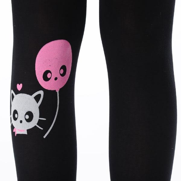 可愛貓咪氣球刺青褲襪NO.695-192