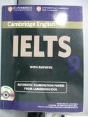 【書寶二手書T8/語言學習_YEU】IELTS Examination Papers with Answers 9_Cambridge English