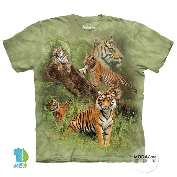 【摩達客】(預購)(大尺碼3XL)美國進口The Mountain 野虎群 純棉環保藝術中性短袖T恤