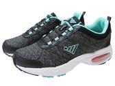 『雙惠鞋櫃』★JUMP將門★ 低調素面款 女氣墊運動鞋/布鞋 ★(210) 黑綠