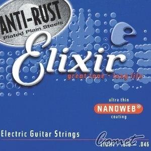 Elixir 頂級電吉他弦 (12052) (10-46) NANOWEB 【ELIXIR弦/電吉他弦】
