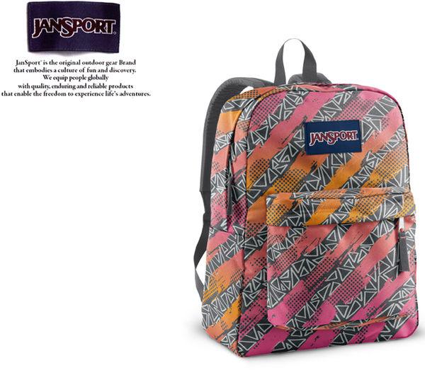 【橘子包包館】JANSPORT 後背包 SUPER BREAK JS-43501 斜邊菱格紋