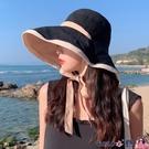 熱賣漁夫帽 漁夫帽女夏遮臉防紫外線遮陽帽大帽檐適合圓臉雙面大沿防曬太陽帽 coco