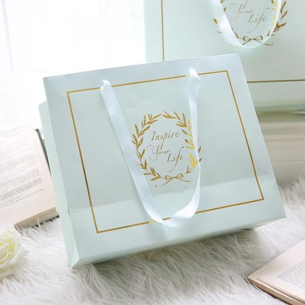 [超豐國際]Miz/禮袋 白卡紙禮盒包裝袋 禮品袋(僅隨商品1入