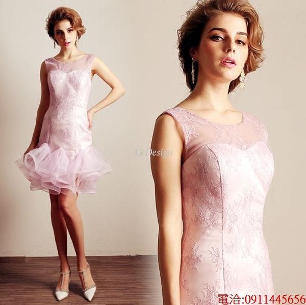 (45 Design)  7天到貨 禮服婚紗晚禮服短款晚宴年會 結婚小禮服短裙 大小顏色款式都能訂製2
