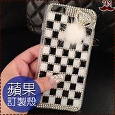 蘋果 iPhone12 12mini 12Pro Max iPhone11 SE2 XS IX XR i8+ i7 i6 黑白狐狸滿鑽 水鑽殼 保護殼 手機殼 訂做殼