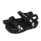 G.P (GOLD PIGEON) 阿亮代言 涼鞋 黑色 花卉 女鞋 G0748W-10 no099