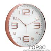 超靜音圓形鐘表立體裝飾個性掛鐘家用客廳時鐘現代簡約大氣創意鐘igo「Top3c」