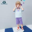 男童短袖套裝2020夏裝新品柔軟親膚透氣休閒時髦童裝 潮流衣舍