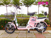 億達百貨館 20657-16吋-新款電瓶車 雙人電動自行車 兩輪男女代步電動車 附椅背 電動腳踏車 特價~