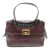 GIVENCHY 紀梵希 暗紅亮牛皮手提斜背兩用包RED 2WAY 【BRAND OFF】