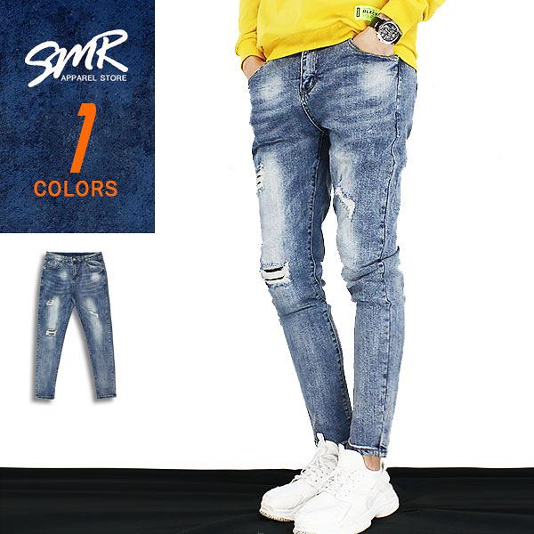 長褲-簡約補釘彈力破牛仔-街潮百搭款《9999527》藍色【現貨】『RFD』