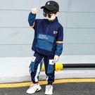 衣童趣(•‿•)韓版男童 街頭潮流工裝套裝 大口袋上衣+口袋工作褲 帥氣套裝