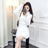 法國小眾連身裙娃娃裙2019秋冬新款夜店女裝性感洋氣很仙的毛衣裙 ☸mousika