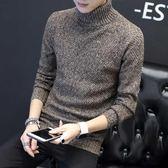 冬季男士高領毛衣韓版修身針織衫線衣個性男款加絨加厚2019新款潮